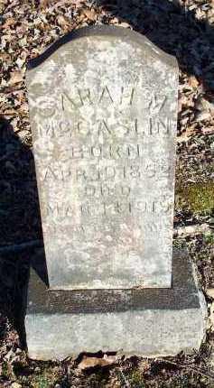 MCCASLIN, SARAH M. - Crawford County, Arkansas | SARAH M. MCCASLIN - Arkansas Gravestone Photos