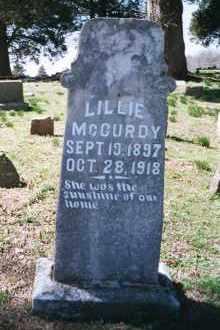 MCCURDY, LILLIE - Crawford County, Arkansas   LILLIE MCCURDY - Arkansas Gravestone Photos