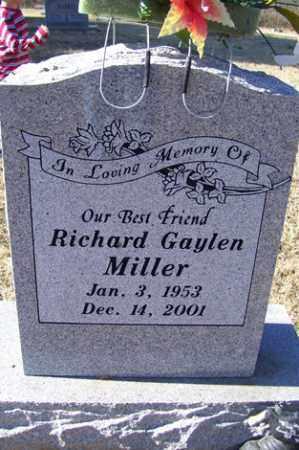 MILLER, RICHARD GAYLEN - Crawford County, Arkansas | RICHARD GAYLEN MILLER - Arkansas Gravestone Photos