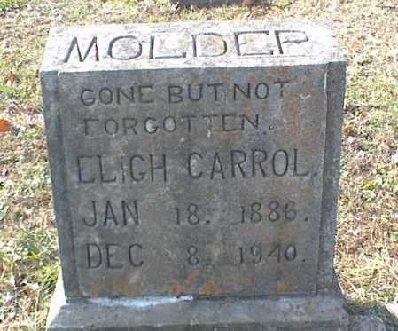 MOLDER, ELIGH CARROLL - Crawford County, Arkansas   ELIGH CARROLL MOLDER - Arkansas Gravestone Photos