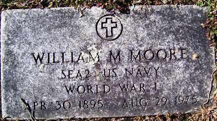 MOORE (VETERAN WWI), WILLIAM M - Crawford County, Arkansas | WILLIAM M MOORE (VETERAN WWI) - Arkansas Gravestone Photos