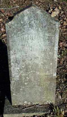 MORROW, MINNIE E - Crawford County, Arkansas   MINNIE E MORROW - Arkansas Gravestone Photos