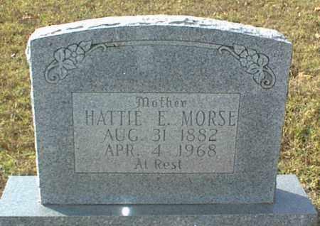 MORSE, HATTIE E. - Crawford County, Arkansas | HATTIE E. MORSE - Arkansas Gravestone Photos