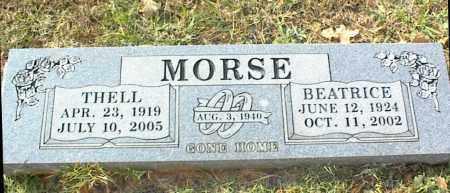 MORSE, THELL - Crawford County, Arkansas | THELL MORSE - Arkansas Gravestone Photos