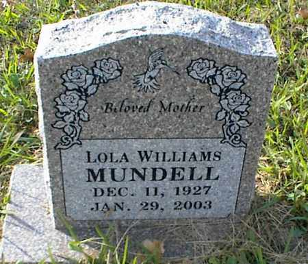 MUNDELL, LOLA - Crawford County, Arkansas   LOLA MUNDELL - Arkansas Gravestone Photos