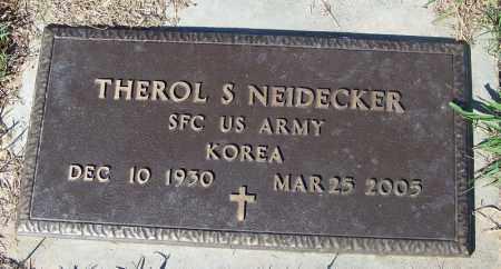 NEIDECKER (VETERAN KOR), THEROL S - Crawford County, Arkansas | THEROL S NEIDECKER (VETERAN KOR) - Arkansas Gravestone Photos