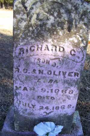 OLIVER, RICHARD C - Crawford County, Arkansas   RICHARD C OLIVER - Arkansas Gravestone Photos