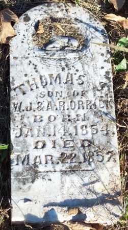 ORRICK, THOMAS S. - Crawford County, Arkansas | THOMAS S. ORRICK - Arkansas Gravestone Photos