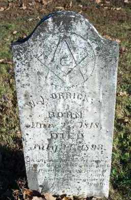 ORRICK, W J - Crawford County, Arkansas | W J ORRICK - Arkansas Gravestone Photos