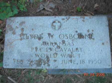 OSBORNE (VETERAN WWI), CLYDE W - Crawford County, Arkansas | CLYDE W OSBORNE (VETERAN WWI) - Arkansas Gravestone Photos