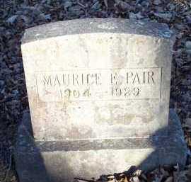 PAIR, MAURICE E - Crawford County, Arkansas | MAURICE E PAIR - Arkansas Gravestone Photos