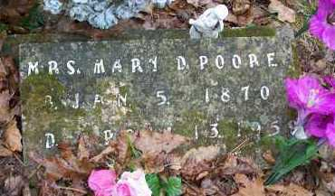 POORE, MRS  MARY D - Crawford County, Arkansas | MRS  MARY D POORE - Arkansas Gravestone Photos