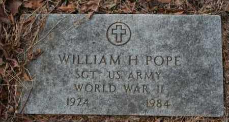 POPE  (VETERAN WWII), WILLIAM - Crawford County, Arkansas | WILLIAM POPE  (VETERAN WWII) - Arkansas Gravestone Photos