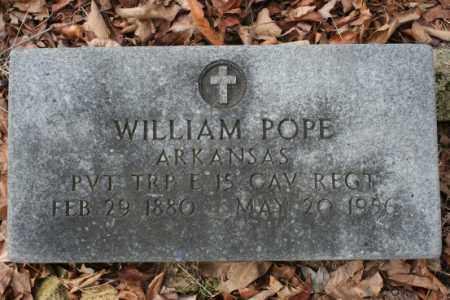 POPE  (VETERAN), WILLIAM - Crawford County, Arkansas | WILLIAM POPE  (VETERAN) - Arkansas Gravestone Photos