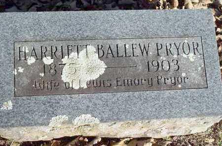 PRYOR, HARRIETT - Crawford County, Arkansas | HARRIETT PRYOR - Arkansas Gravestone Photos