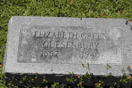GREEN QUESENBURY, ELIZABETH - Crawford County, Arkansas | ELIZABETH GREEN QUESENBURY - Arkansas Gravestone Photos