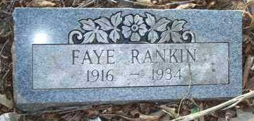RANKIN, FAYE - Crawford County, Arkansas | FAYE RANKIN - Arkansas Gravestone Photos