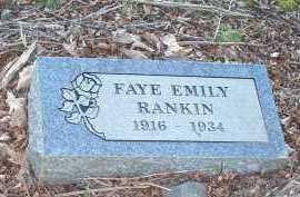 RANKIN, FAYE EMILY - Crawford County, Arkansas | FAYE EMILY RANKIN - Arkansas Gravestone Photos