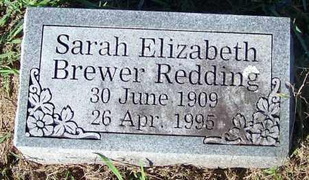 REDDING, SARAH ELIZABETH - Crawford County, Arkansas | SARAH ELIZABETH REDDING - Arkansas Gravestone Photos