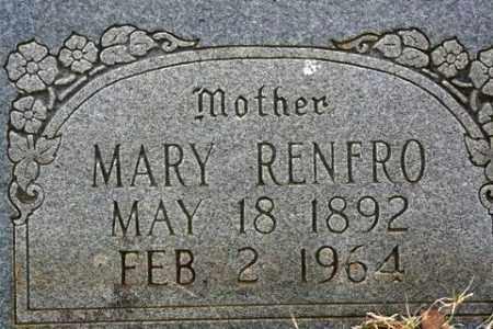 RENFRO, MARY - Crawford County, Arkansas   MARY RENFRO - Arkansas Gravestone Photos