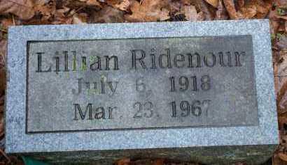 RIDENOUR, LILLIAN - Crawford County, Arkansas | LILLIAN RIDENOUR - Arkansas Gravestone Photos