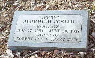 ROGERS, JEREMIAH JOSIAH 'JERRY' - Crawford County, Arkansas   JEREMIAH JOSIAH 'JERRY' ROGERS - Arkansas Gravestone Photos