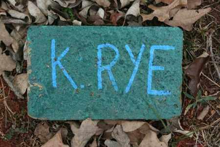 RYE, K. - Crawford County, Arkansas   K. RYE - Arkansas Gravestone Photos