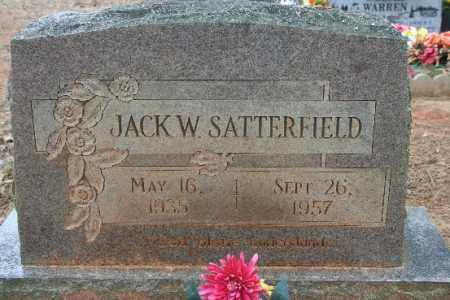 SATTERFIELD, JACK W - Crawford County, Arkansas | JACK W SATTERFIELD - Arkansas Gravestone Photos