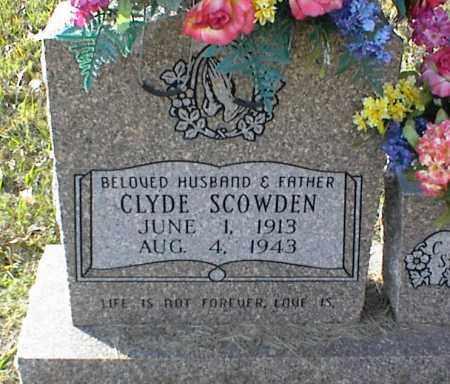 SCOWDEN, CLYDE - Crawford County, Arkansas   CLYDE SCOWDEN - Arkansas Gravestone Photos