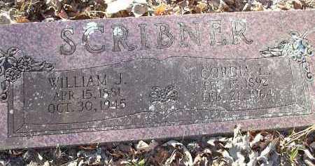 SCRIBNER, WILLIAM J. - Crawford County, Arkansas | WILLIAM J. SCRIBNER - Arkansas Gravestone Photos
