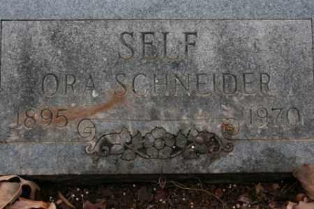 SCHNEIDER SELF, ORA - Crawford County, Arkansas | ORA SCHNEIDER SELF - Arkansas Gravestone Photos