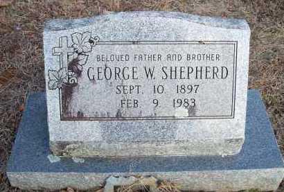 SHEPHERD, GEORGE W - Crawford County, Arkansas | GEORGE W SHEPHERD - Arkansas Gravestone Photos