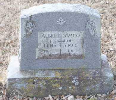 SIMCO, ALBERT - Crawford County, Arkansas | ALBERT SIMCO - Arkansas Gravestone Photos