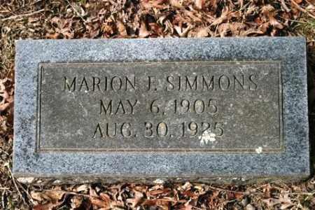 SIMMONS, MARION F - Crawford County, Arkansas   MARION F SIMMONS - Arkansas Gravestone Photos