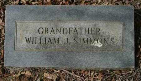 SIMMONS, WILLIAM J. - Crawford County, Arkansas | WILLIAM J. SIMMONS - Arkansas Gravestone Photos
