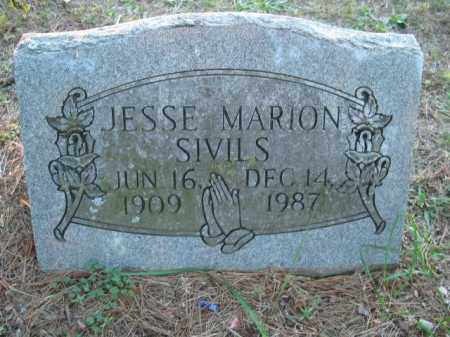 SIVILS, JESSE MARION - Crawford County, Arkansas | JESSE MARION SIVILS - Arkansas Gravestone Photos