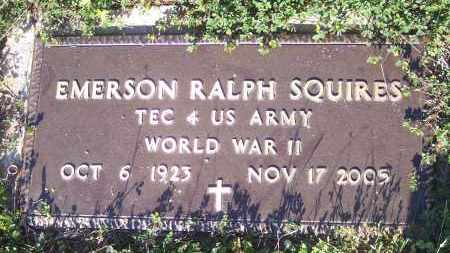 SQUIRES (VETERAN WWII), EMERSON RALPH - Crawford County, Arkansas | EMERSON RALPH SQUIRES (VETERAN WWII) - Arkansas Gravestone Photos