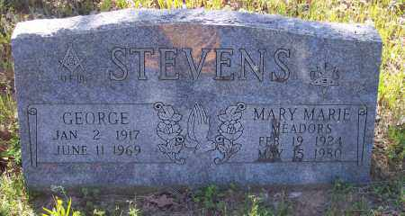 MEADORS STEVENS, MARY MARIE - Crawford County, Arkansas | MARY MARIE MEADORS STEVENS - Arkansas Gravestone Photos