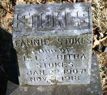 STOKES, FANNIE - Crawford County, Arkansas   FANNIE STOKES - Arkansas Gravestone Photos