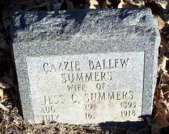 BALLEW SUMMERS, CAZZIE - Crawford County, Arkansas | CAZZIE BALLEW SUMMERS - Arkansas Gravestone Photos