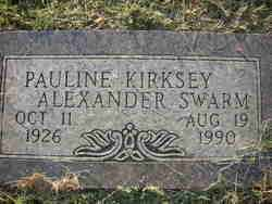 KIRKSEY SWARM  ALEXANDER, PAULINE - Crawford County, Arkansas | PAULINE KIRKSEY SWARM  ALEXANDER - Arkansas Gravestone Photos