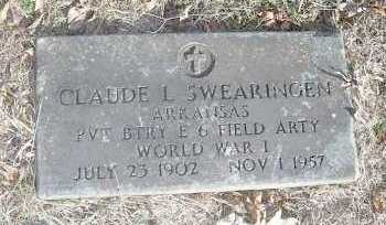 SWEARINGEN (VETERAN WW)), CLAUDE L. - Crawford County, Arkansas | CLAUDE L. SWEARINGEN (VETERAN WW)) - Arkansas Gravestone Photos