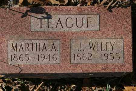 TEAGUE, MARTHA A - Crawford County, Arkansas | MARTHA A TEAGUE - Arkansas Gravestone Photos