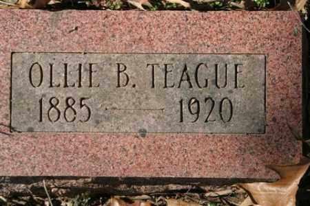 TEAGUE, OLLIE B - Crawford County, Arkansas   OLLIE B TEAGUE - Arkansas Gravestone Photos