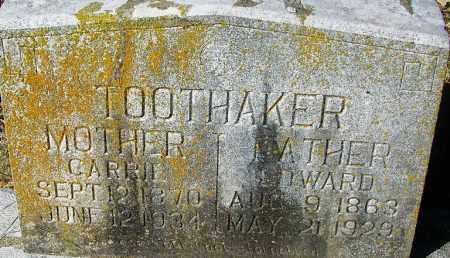 TOOTHAKER, EDWARD - Crawford County, Arkansas | EDWARD TOOTHAKER - Arkansas Gravestone Photos