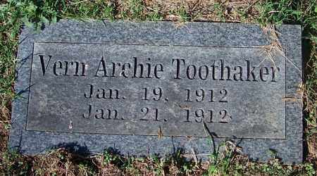 TOOTHAKER, VERN ARCHIE - Crawford County, Arkansas | VERN ARCHIE TOOTHAKER - Arkansas Gravestone Photos