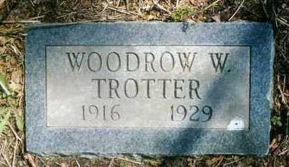 TROTTER, WOODROW W - Crawford County, Arkansas   WOODROW W TROTTER - Arkansas Gravestone Photos
