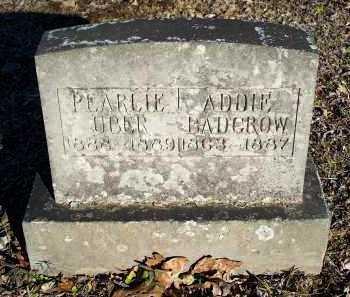 UBER, PEARLIE - Crawford County, Arkansas   PEARLIE UBER - Arkansas Gravestone Photos