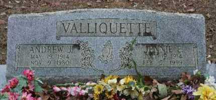 VALLIQUETTE, ANDREW J - Crawford County, Arkansas   ANDREW J VALLIQUETTE - Arkansas Gravestone Photos