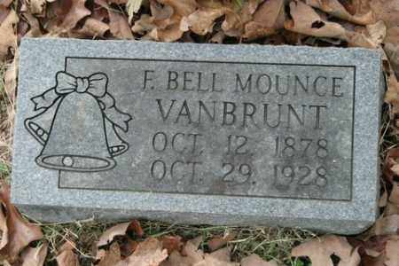 MOUNCE VANBRUNT, F BELL - Crawford County, Arkansas | F BELL MOUNCE VANBRUNT - Arkansas Gravestone Photos